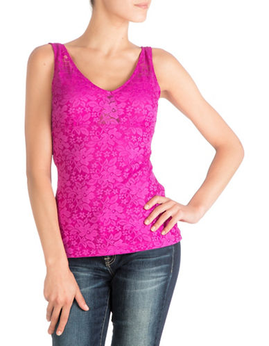 Guess Short Sleeve Amelie Lace Top-PINK-Large 88528849_PINK_Large