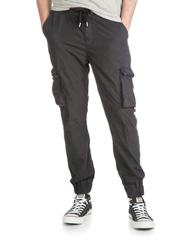 Guess Paul Poplin Cargo Jogger Pants-BLACK-XX-Large 88404443_BLACK_XX-Large