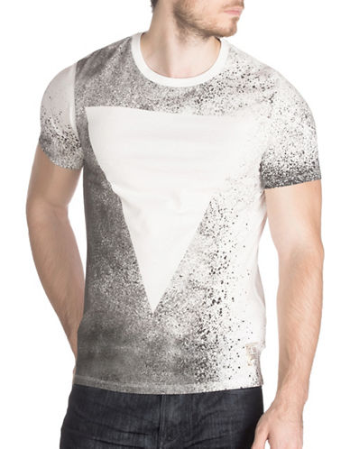 Guess Two-Tone Graphic T-Shirt-GREY-Large 88742638_GREY_Large