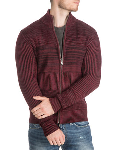 Guess Knit Zipper Sweater-RED-Medium 88656756_RED_Medium