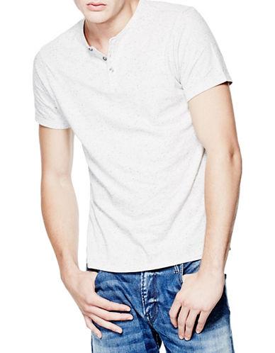 Guess Fleck Henley T-Shirt-GREY-Small 88560046_GREY_Small