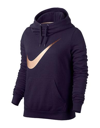 Nike Metallic Club Logo Hoodie-PURPLE-X-Small 88783829_PURPLE_X-Small