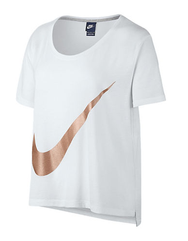Nike Metallic Logo T-Shirt-WHITE-Medium 88821842_WHITE_Medium