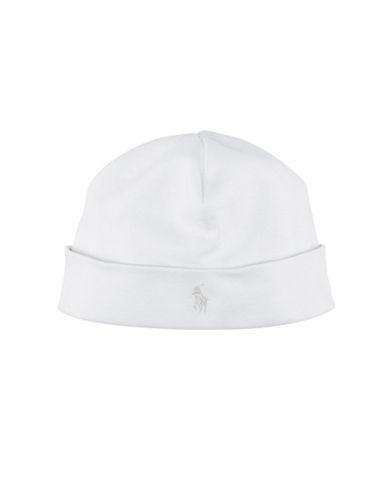 Ralph Lauren Childrenswear Beanie Hat-WHITE-One Size