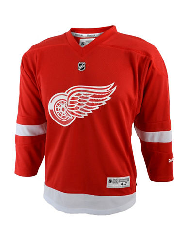 Reebok Detroit Red Wings Child Premier Replica Home Jersey-RED-One Size