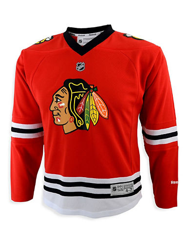 Reebok Chicago Blackhawks Child Premier Replica Home Jersey-RED-One Size