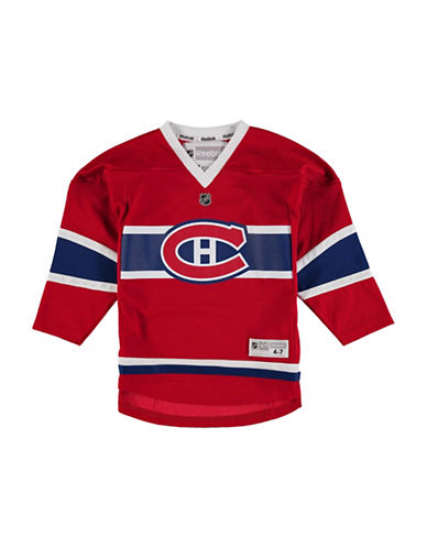 Reebok Montreal Canadiens Child Premier Replica Home Jersey-RED-One Size