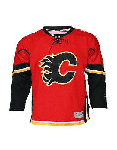Reebok Calgary Flames Youth NHL Premier Home Jersey-RED-L/XL