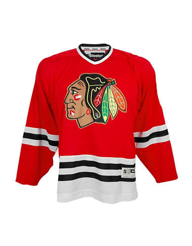 Reebok Chicago Blackhawks Youth NHL Premier Home Jersey-RED-L/XL