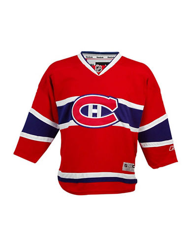 Reebok Montreal Canadiens Youth NHL Premier Home Jersey-RED-L/XL