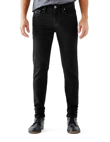 Guess Slim Tapered Jeans-BLACK-29