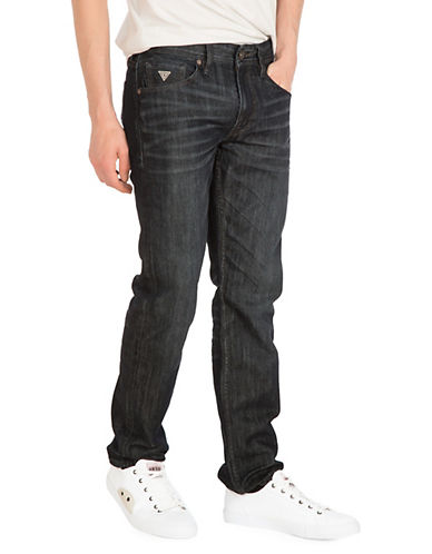 Guess Regular Straight Jeans in Riverfront Wash-RIVER-36X34