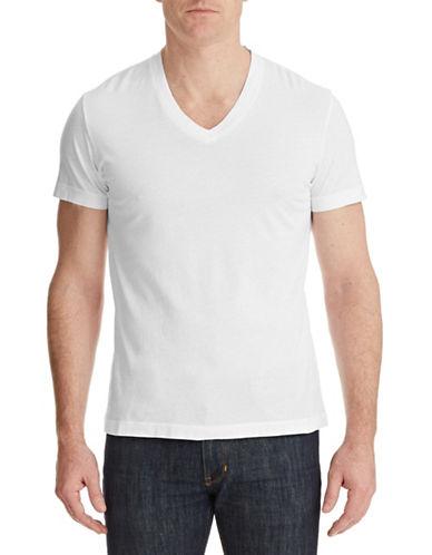 Theory Pima Cotton V-Neck T-Shirt-WHITE-X-Small 87340736_WHITE_X-Small