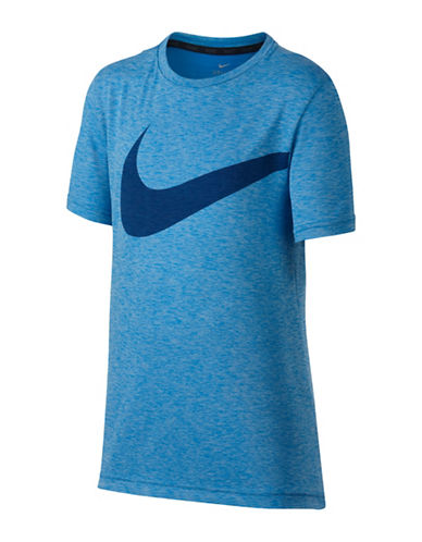 Nike Boys Breathe Training Tee-BLUE-14-16