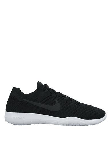 Nike FlyKnit Free Sneakers-BLACK-6.5