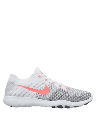 Nike FlyKnit Free Sneakers-WHITE-9.5