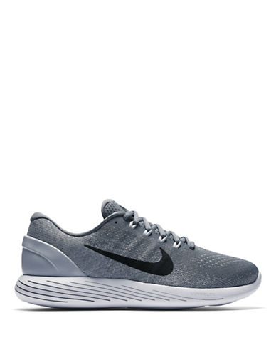 Nike Mens LunarGlide 9 Running Shoes-GREY-9.5