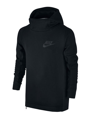Nike Cotton Blend Fleece Hoodie-BLACK-Medium 88786996_BLACK_Medium