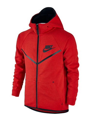 Nike Solid Kangaroo Pocket Hoodie-RED-Large 88745339_RED_Large