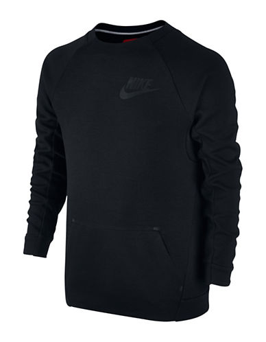 Nike Tech Crew Neck Sweatshirt-BLACK-6-8 88566967_BLACK_6-8