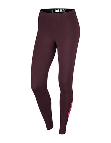 Nike Leg-A-See Logo Leggings-MAROON-Small 88779092_MAROON_Small