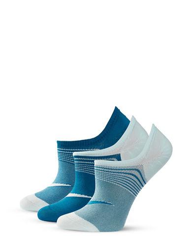 Nike Three-Pack Striped Ankle Socks-BLUE-One Size