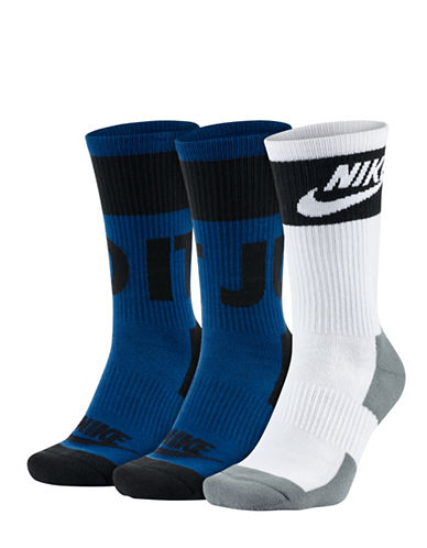 Nike Two-Pack Crew Socks-BLUE-Large