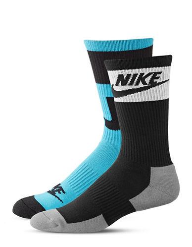 Nike Two-Pack Crew Socks-WHITE-Large