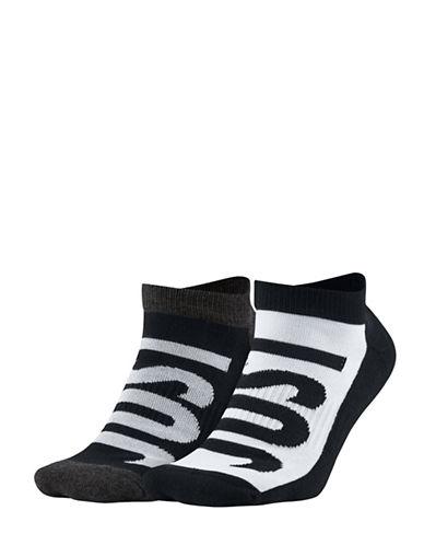 Nike Two-Pack Ankle Socks-BLACK-Large