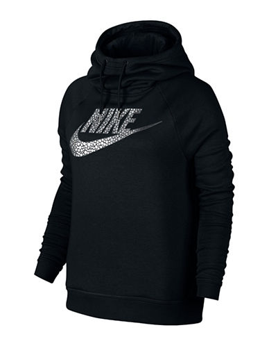 Nike Metallic Bubble Logo Hoodie-BLACK-Small 88779122_BLACK_Small