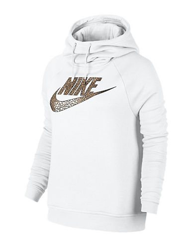 Nike Metallic Bubble Logo Hoodie-WHITE-Medium 88779128_WHITE_Medium