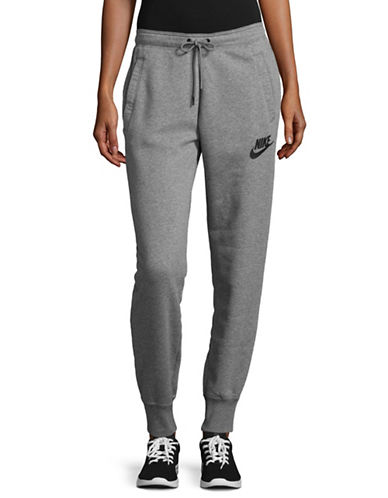 Nike Fleece Jogger Pants-GREY-X-Small