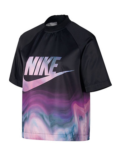 Nike Sportswear Marbled Logo Top-BLACK-Large 88911473_BLACK_Large