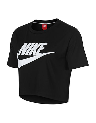 Nike Sportswear Essential Top-BLACK-X-Small