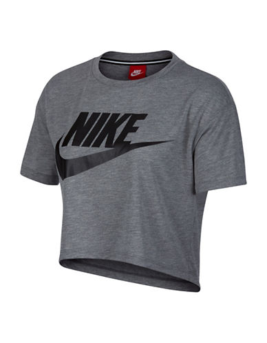Nike Sportswear Essential Top-GREY-X-Small