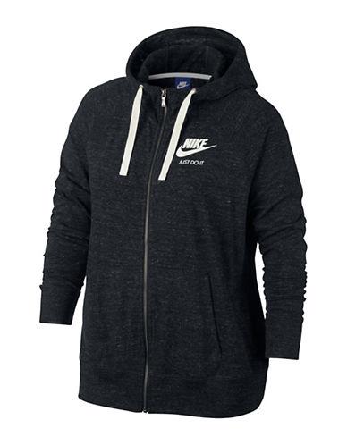 Nike Sportswear Gym Vintage Hoodie-BLACK-1X