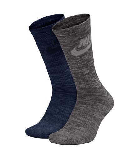 Nike Two-Pack Mid-Calf Socks-BLUE-Large 89485092_BLUE_Large
