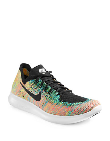 Nike Mens Free RN Flyknit Running Shoes-BLACK-13