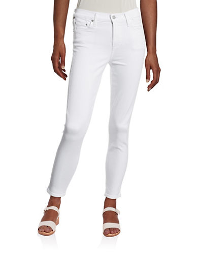 Citizens Of Humanity Rocket Crop High-Rise Skinny Jeans-WHITE-27