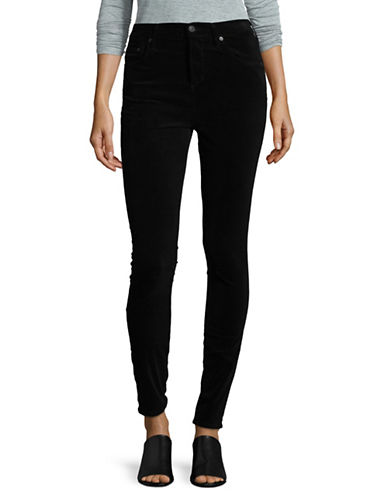 Citizens Of Humanity High-Rise Frayed Hem Skinny Jeans-BLACK-30