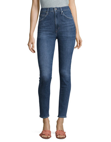 Citizens Of Humanity Hotline Chrissy Uber High-Rise Skinny Jeans-BLUE-28