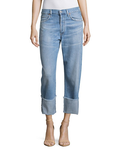 Citizens Of Humanity Relaxed Cuffed Jeans-BLUE-27