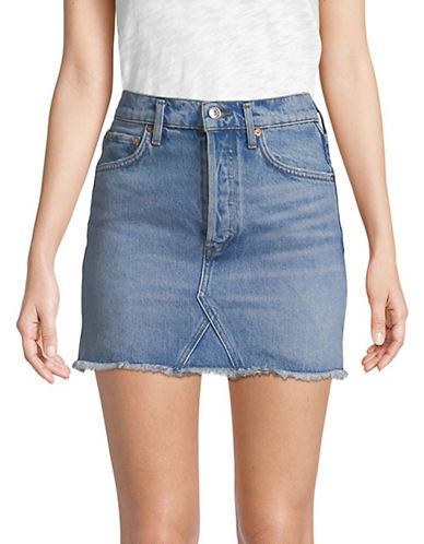 Quinn Denim Skirt by Agolde