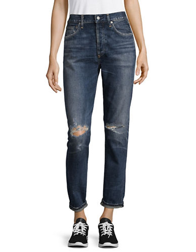 Citizens Of Humanity Shangri La Liya Classic Fit High Rise Jeans-BLUE-28
