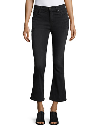 Citizens Of Humanity Astoria Fleetwood Cropped Flare Jeans-BLACK-31
