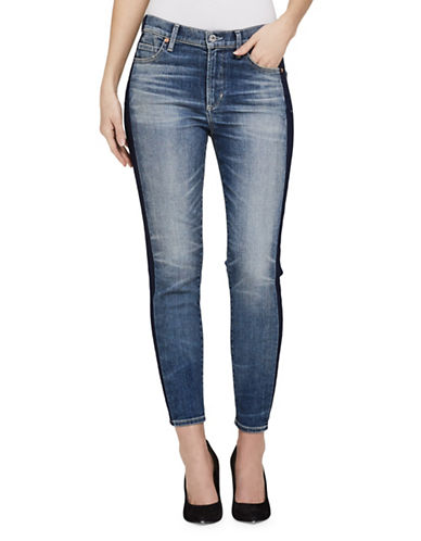 Citizens Of Humanity Rocket Whisker Crop Jeans-SHADOW STRIPE-26