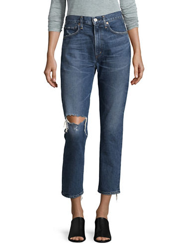 Citizens Of Humanity Straight Leg Cropped Jeans-BLUE-26