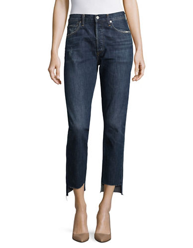 Citizens Of Humanity Liya Step Hem Cotton Jeans-BLUE-29