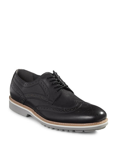 Kenneth Cole Reaction Wing Tip Brogues-GREY-9.5