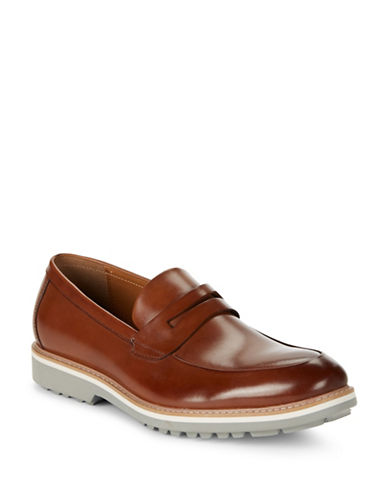 Kenneth Cole Reaction Epic Time Leather Loafers-COGNAC-11